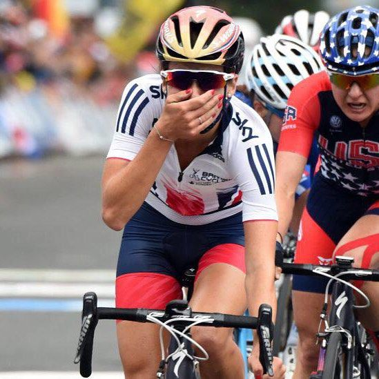 That moment when you can't believe you're world champion Richmond2015  Lizzie Armitstead