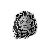3D Personality Lion Auto Logo Car Sticker Pure Metal Badge Emblem Tail Decal NEW