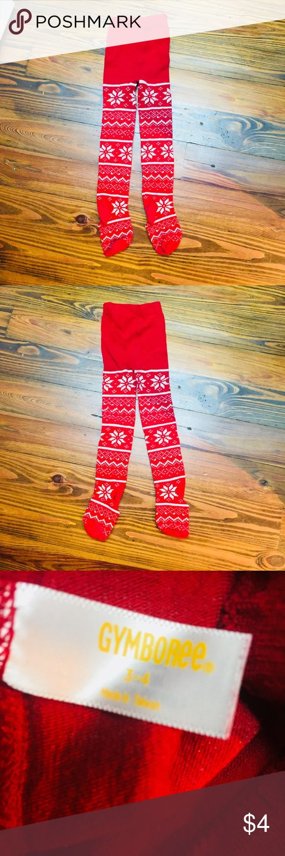 Gymboree Christmas Tights Gymboree Christmas Tights. Size 3-4pm. Light wear, no stains or holes. Smoke and pet free home. Bundle and save, offers welcome! Gymboree Accessories Socks & Tights