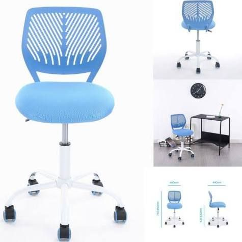 Office Computer Chair High Adjustable Pp Mesh Kids Student Swivel