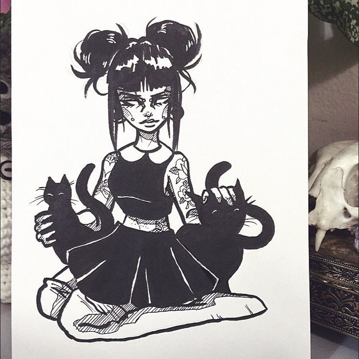 #Inktober day 13 - Whatever Forever & Cats - ⚫️⚫️⚫️✨ #graphicartery… Mais