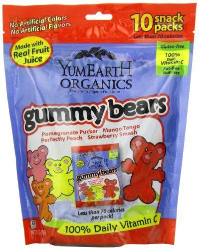 YumEarth Organics Gummy Bears, 10 snack packs (7oz) YummyEarth,http://www.amazon.com/dp/B008B7JNRA/ref=cm_sw_r_pi_dp_G6pbtb0M83ZPXF60