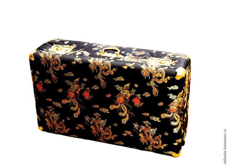 Купить Китайский чемодан - китайский стиль, черный, китай, китайский дракон, чемодан, винтаж