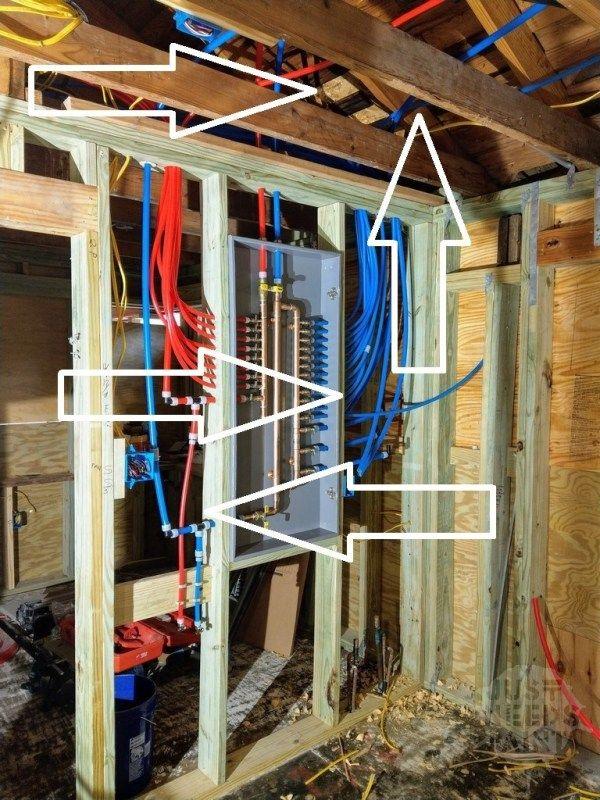 Sanity Saving Pex Manifold Installation Tips Just Needs Paint Pex Tubing Pex Plumbing Plumbing
