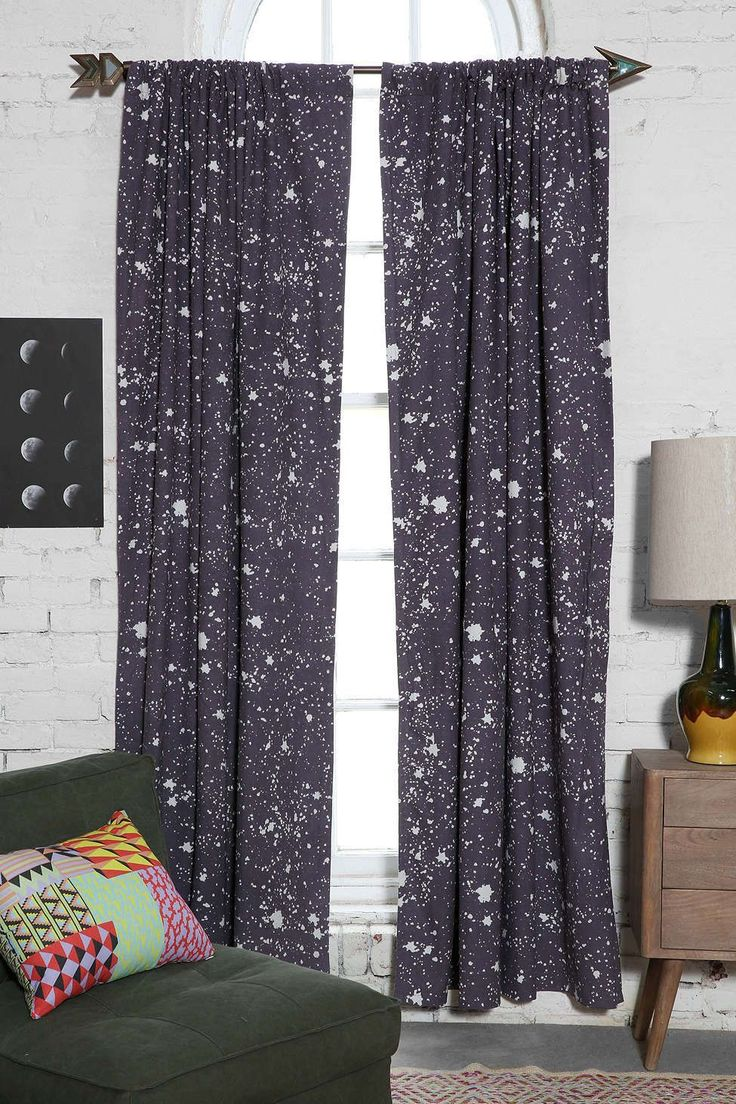 Nautical nursery curtains - 35 Out Of This World Ideas For A Space Themed Nursery