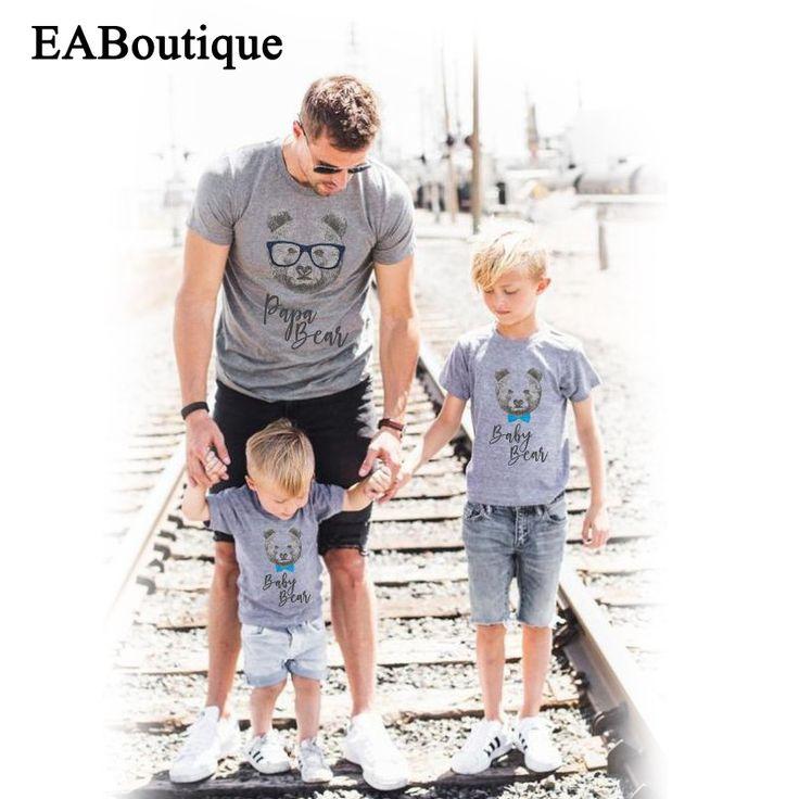 EABoutique mode OURS PAPA MAMAN lettre famille correspondant vêtements mère et fille vêtements famille t shirt au détail dans Famille Des Vêtements Assortis de Mère et Enfants sur AliExpress.com | Alibaba Group