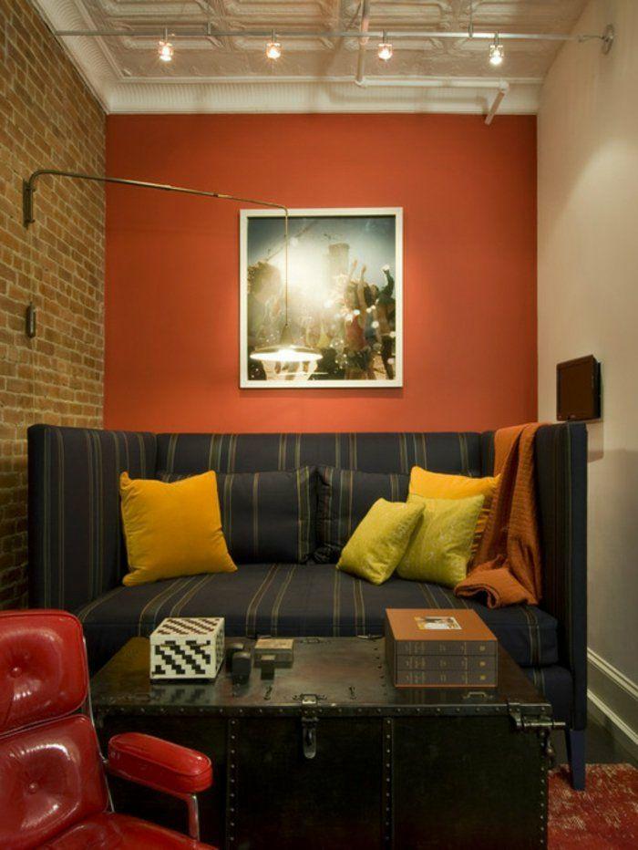 einrichtungsbeispiele holz orange weiß reif #Design #dekor