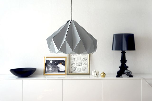 love the geometric shape of this light fixture