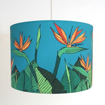 Tropical Bird Of Paradise Flower Handmade Lampshade