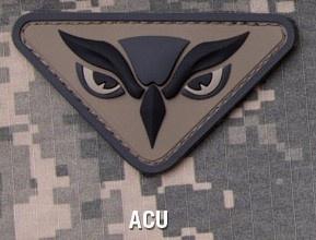 Owl Head PVC Patch - Mil-Spec Monkey Morale Patch