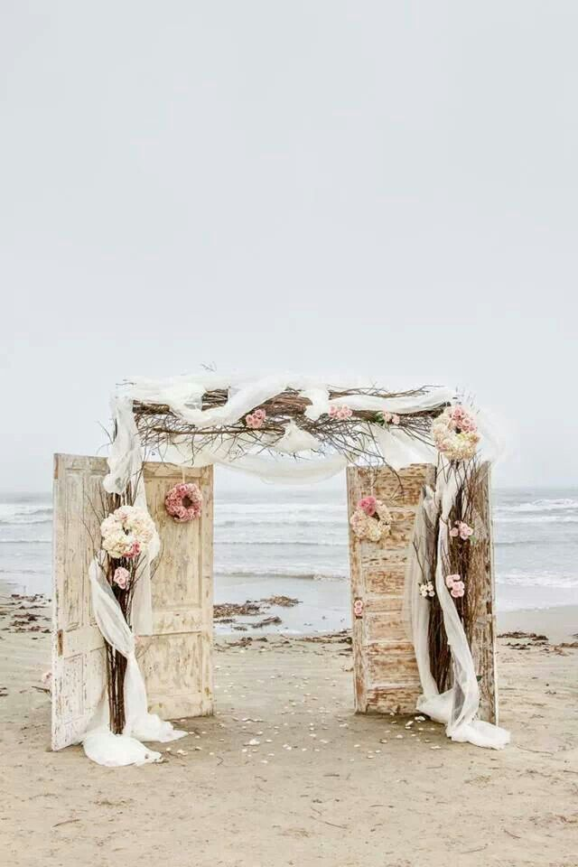 Shabby chic beach wedding