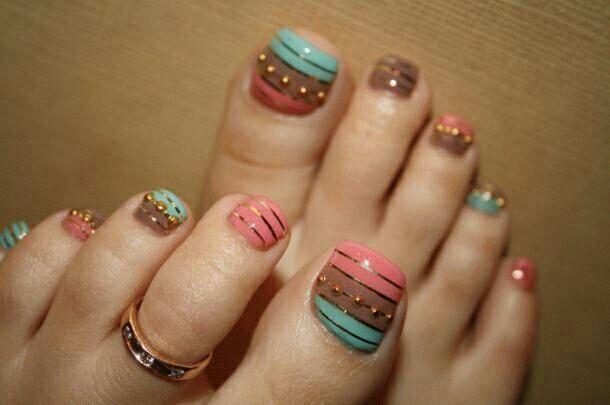 Diseño en uñas de los pies | Nails | Pinterest