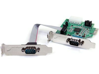 NEW - 2 PORT LP PCI EXPRESS SERIAL CARD - PEX2S952LP by StarTech. $44.39. Primary Information Form Factor Internal Networking Interface PCI Express Networking / Ports Qty 2 Data Transfer Rate 460 Kbps Data Link Protocol RS-232 Connectivity Technology Wired Dimensions Width 3.15 Inch Depth 3.54 Inch Height 0.79 Inch Service Service & Support Type Lifetime Warranty The PEX2S952LP low profile/half-height PCI Express Serial Card turns a PCI Express sl...
