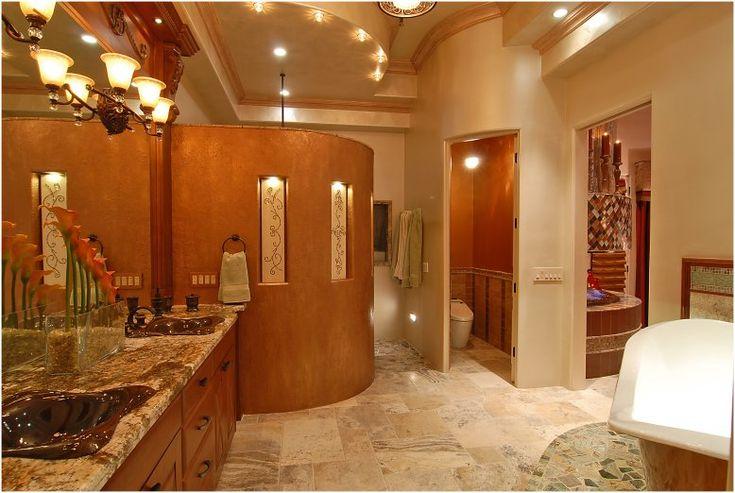 Awesome Master Bathroom Designs: Extravagant Master Bathroom Designs Marble Countertops Vanity Graute Accents Flooring ~ enjoyf.com Bathroom Designs Inspiration