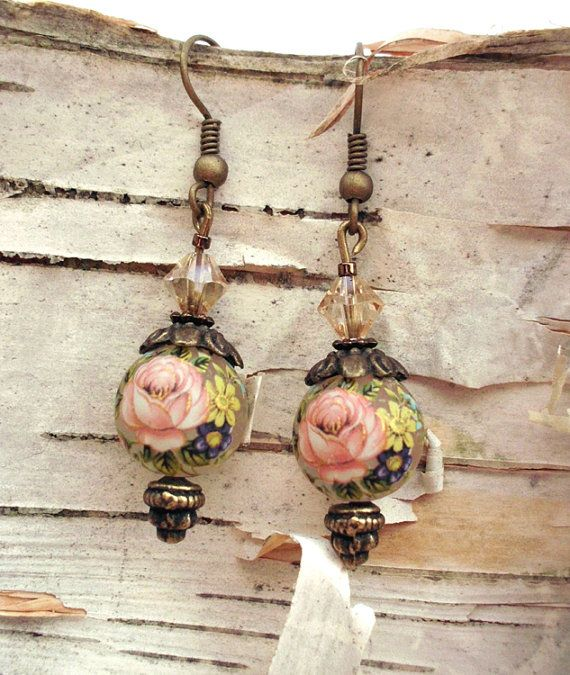Vintage Styled Earrings-- HAILEY i feel like you would like this as a necklace