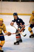 Neal Broten in action against Romania.