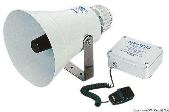 Tromba elettronica con amplificatore per imbarcazioni dai 20 ai 75 metri Scopri di più su -->
