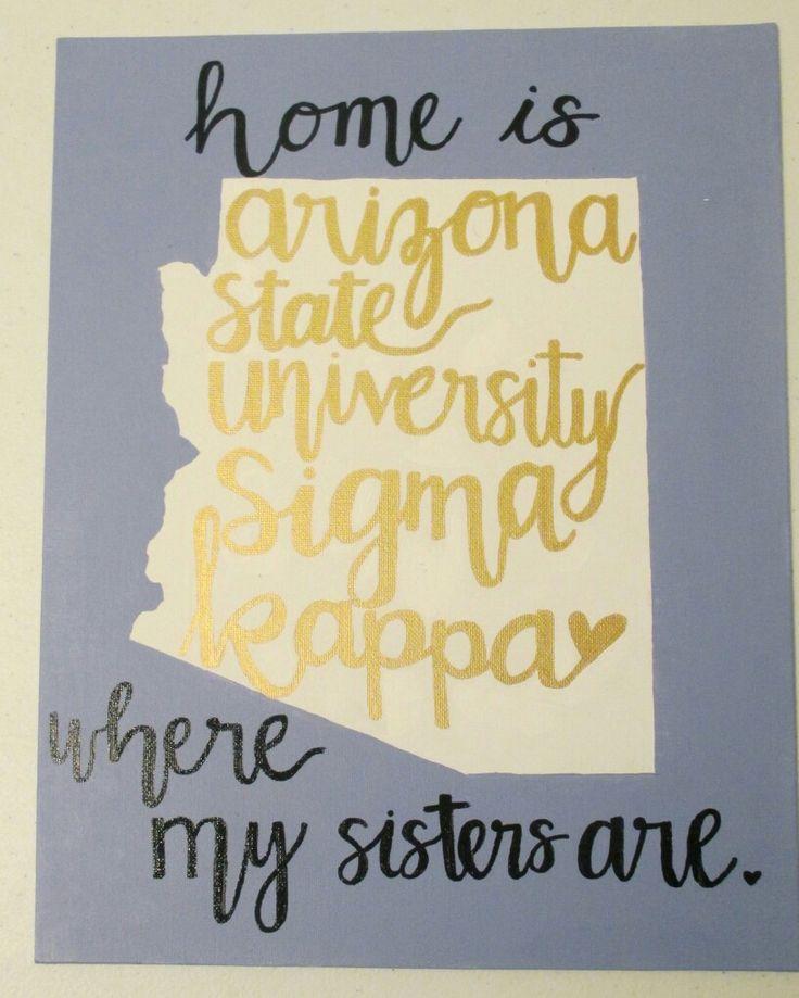 Sigma kappa home canvas Arizona state university big little gifts