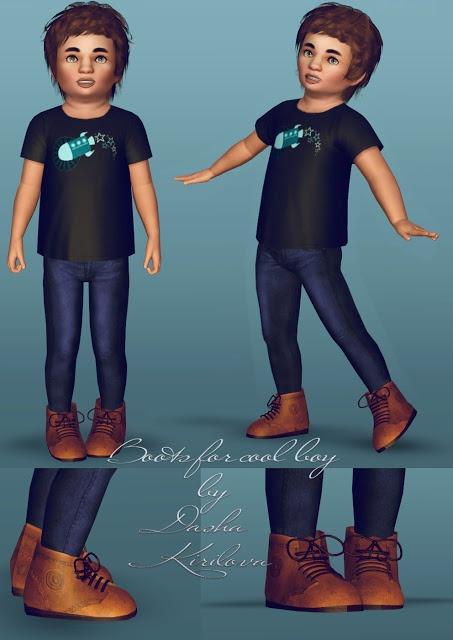 Dasha Kirilova: Boots for little boy ^^