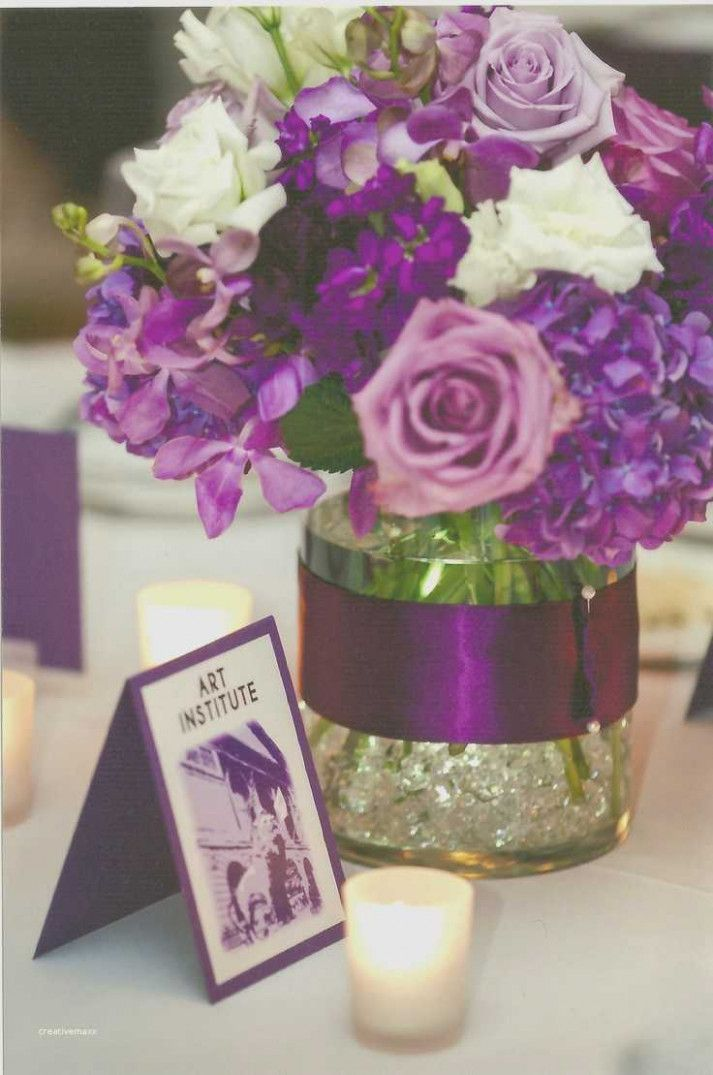 Simple Wedding Ideas Purple Flower Purple Wedding Centerpieces