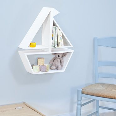 Fun Boat Wall Shelf for a nursery