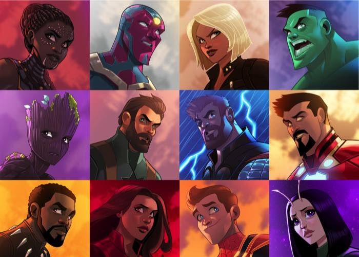 The Heroes Of Avengers Infinity War Assemble In Anime Style Fan Art Anime Style Avengers Poster Avengers Pictures