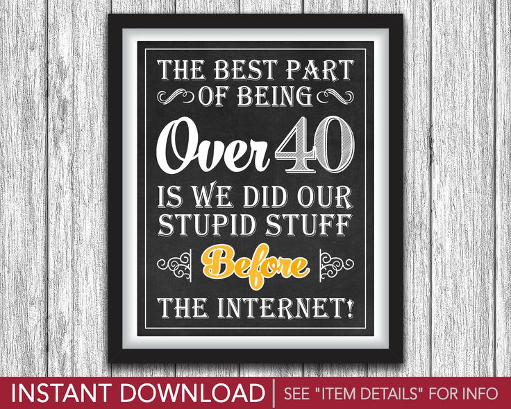 "40th Birthday Sign • The Best Part of Being Over 40 • Cheers and Beers to 40 Years Theme • Printable 8""x10"" Sign • INSTANT DOWNLOAD by PuggyPrints on Etsy"