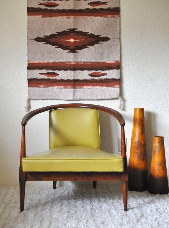 Mid Century Horseshoe Lounge Chair Danish Modern Style By