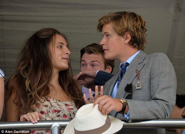 Old pals: Lily Atkinson, daughter of comedian Rowan, and Lord Settrington at Glorious Goodwood
