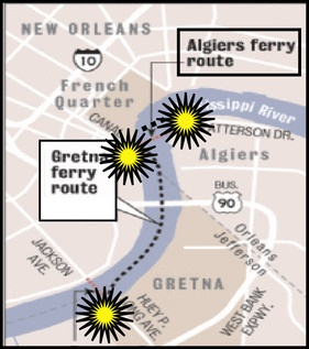 New Orleans River Ferry system
