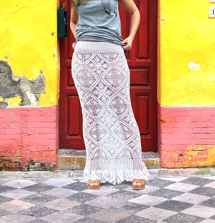 Crochet Maxi Skirt Pattern by janegreen