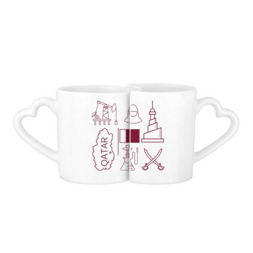Hand-painted Simple-line Drawing City Qatar Flag Lovers' Mug Lover Mugs Set White Pottery Ceramic Cup Gift Milk Coffee Cup with Handles #Mug #Hand-painted #Cup #Simple-lineDrawing #LoverMugs #City #Lovers'Mug #Qatar #CoffeeMug #Flag #CoffeeCup #Caneca #Teacup #Milkcup #Ceramicmug #Gift