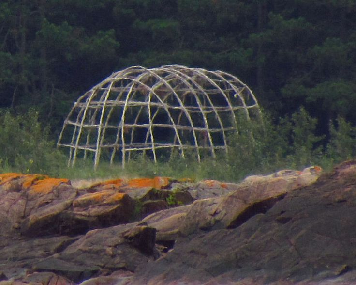Frame for sweat lodge at Lake Superior Provincial Park, Wawa, Ontario, Canada -   Date 30 July 2011 - Source Own work -  Author D. Gordon E. Robertson.