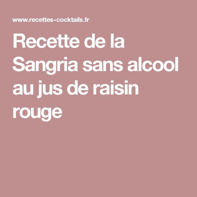 Recette de la Sangria sans alcool au jus de raisin rouge