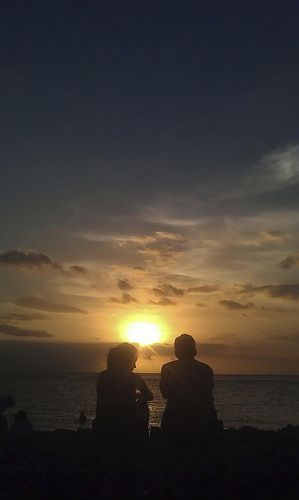 Sunset at Senggigi Beach, Lombok - Indonesia #Sunset #Beach #Couple #Lombok #Indonesia
