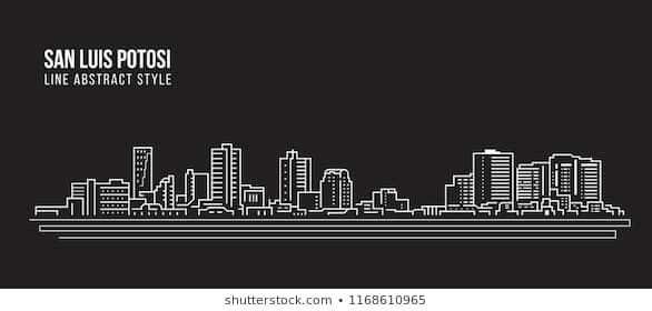 Cityscape Building Line Art Vector Illustration Design San Luis Potosi City Line Art Vector Line Art Vector Illustration