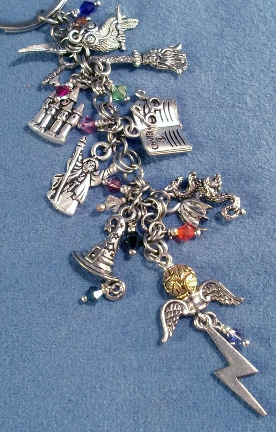 Harry Potter Charms Key Chain Bookmark or Purse Charm.