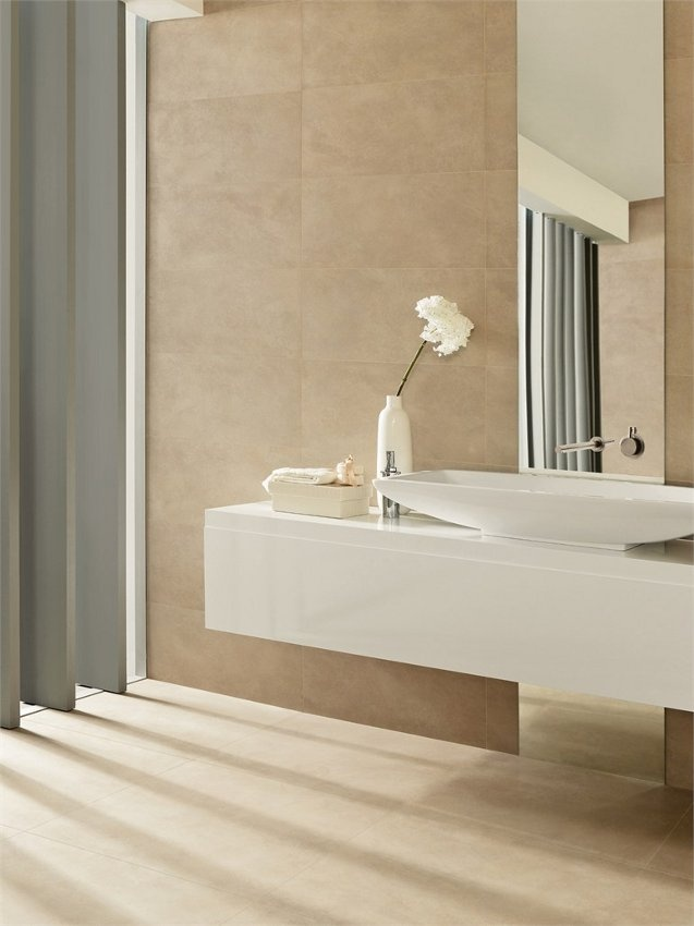 Porcelain stoneware wall/floor tiles UNIQUE by @Margres Ceramic Style #bathroom #light
