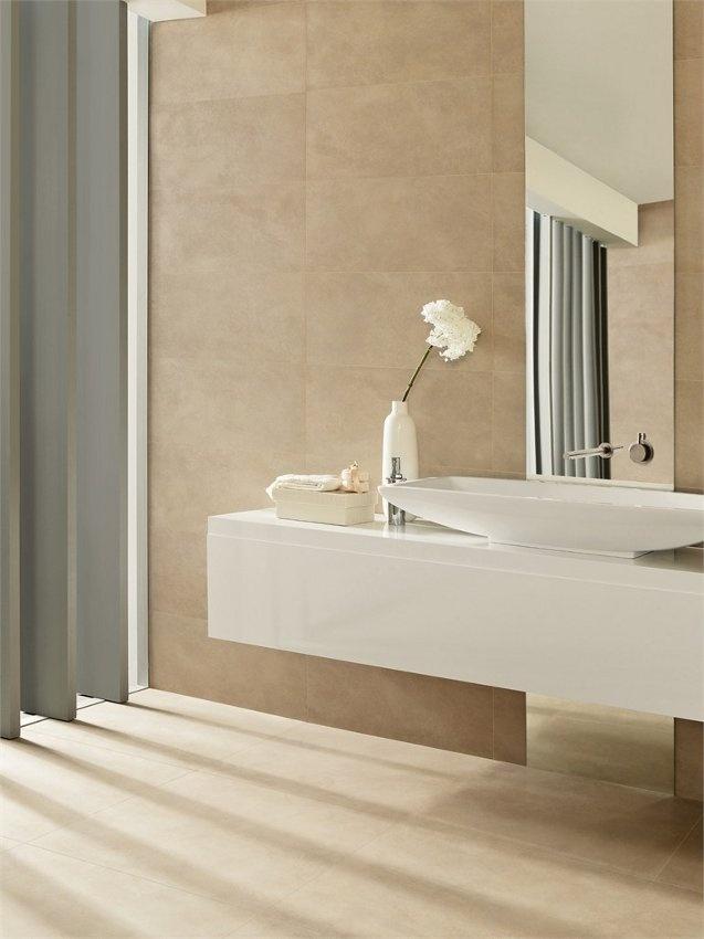 Porcelain stoneware wall/floor tiles UNIQUE by @Margres Ceramic Style #bathroom #light