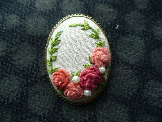 Check out this item in my Etsy shop https://www.etsy.com/listing/234198132/an-elegant-sweet-pink-rose-brooch