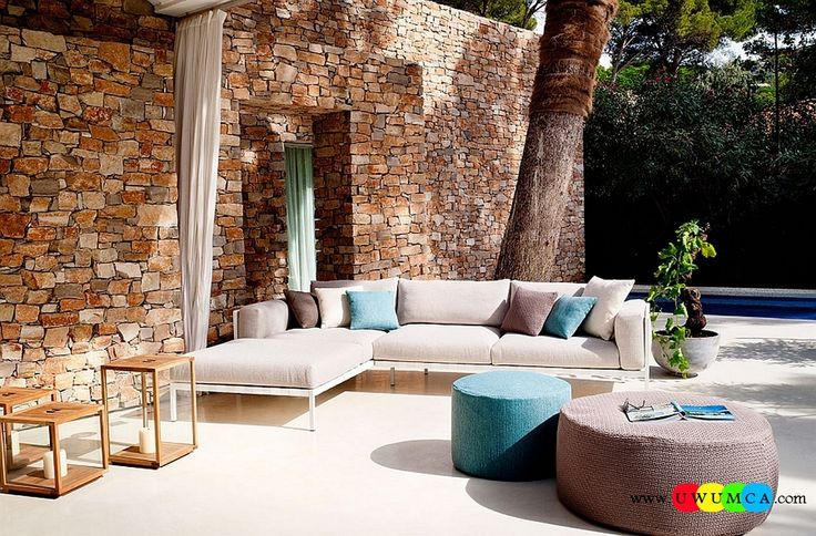 Furniture:Rustic Outdoor Summer Lounge Furniture Collection Easy Summer Garden Lounge Escapes Sofas Chairs Bar Table Set Comfy Outdoor Sofa Blends Contemporary Style With Modular Comfort Luxurious Outdoor Decor Fruniture Collection To Enliven Your Relaxed Summer Lounge!