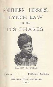 "Ida B. Wells - ""...every Afro-American should ponder well, is that a Winchester rifle should have a place of honor in every black home, and it should be used for that protection which the law refuses to give. When the white man...knows he runs as great a risk of biting the dust every time his Afro-American victim does, he will have greater respect for Afro-American life. The more the Afro-American yields and cringes and begs...the more he is insulted, outraged & lynched."""