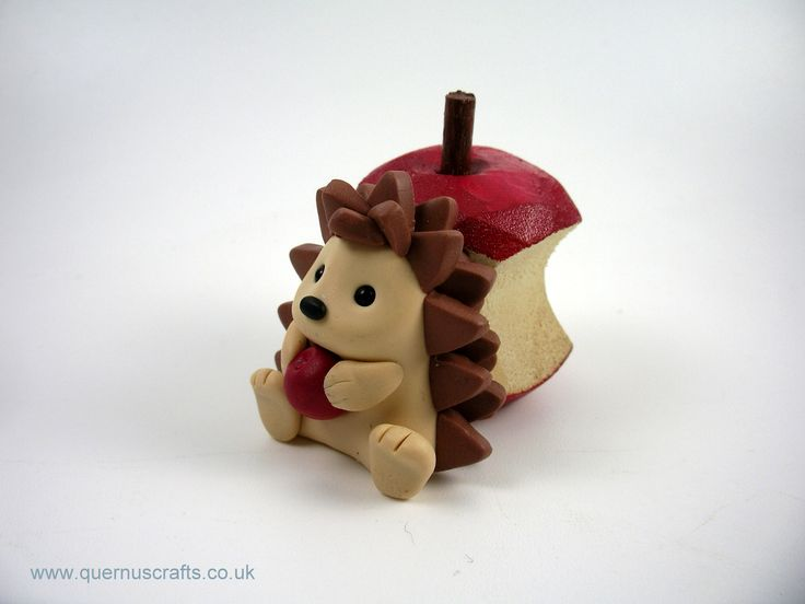 Little Hedgehog with Wooden Apple