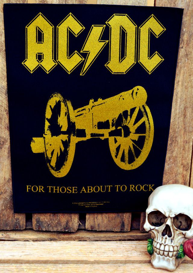 AC/DC For Those About To Rock Back Patch