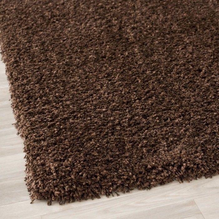 Cozy Solid Brown Shag Rug 2u00273 X 9u0027 Stylish Home Decor #rug