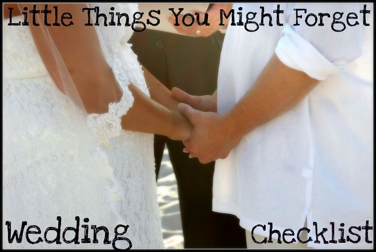 Wedding Check List - Big & Small Things You Might Forget When Planning Your Wedding