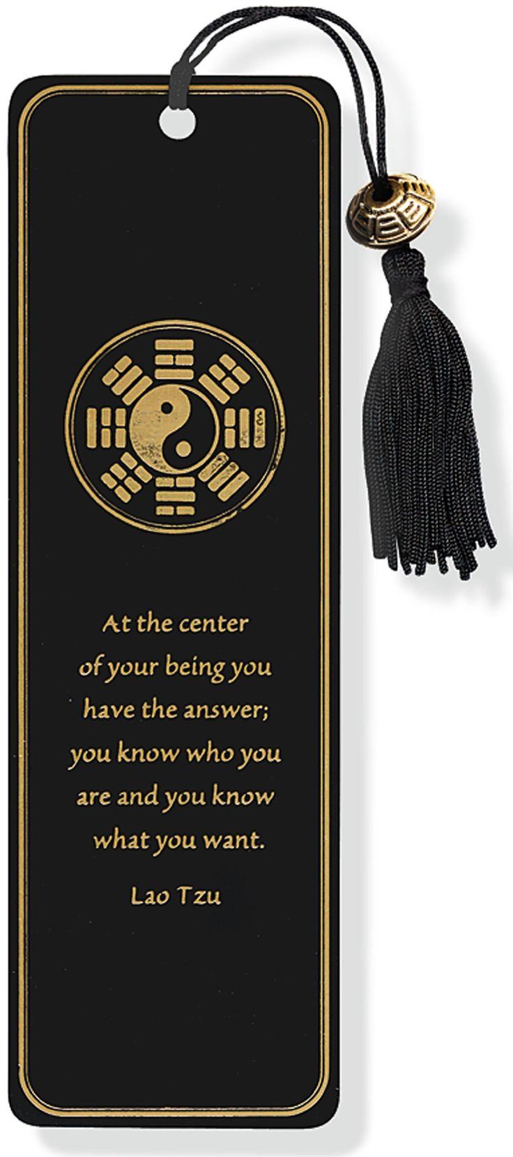 Yin yang beaded bookmark peter pauper press for Lit yin yang