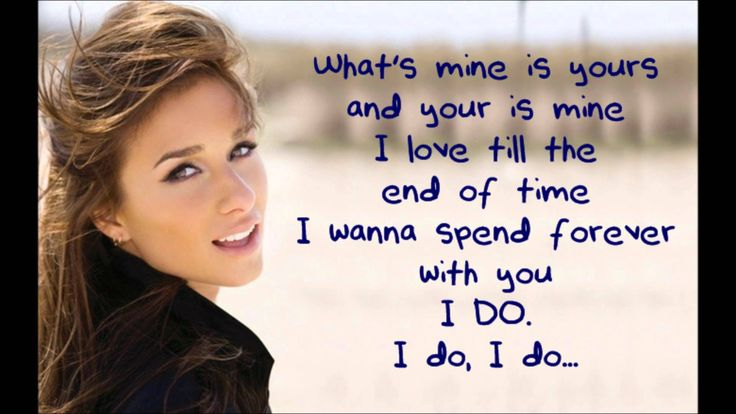 Will be my wedding song so in love with this song brings me to tears!!!  Jessie James - I Do (Lyric Video)