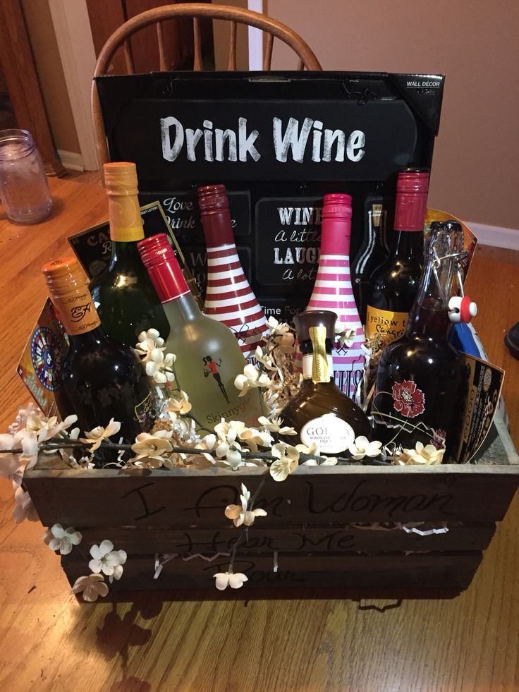 Variety of different brands of Sangria gift basket for my sister In-Laws birthday