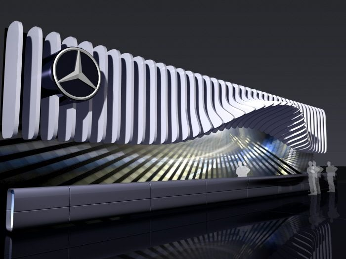 Exhibition Stand Design Proposal : Mercedes benz proposal by dmitry azrikan at coroflot